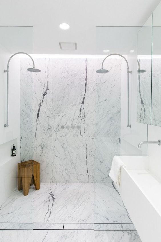 100 marble bathroom designs ideas the architects diary for Bathroom design 101