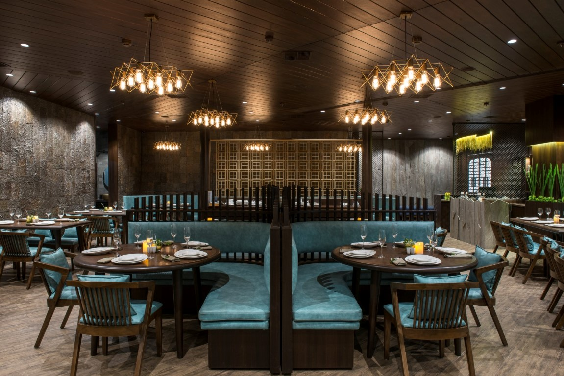 vintage looking restaurant design has modern experience