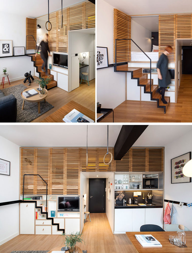 16 incredible staircase ideas for smaller spaces the for Small space home design