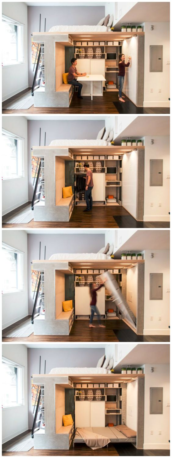 25 multi functional furniture design inspiration the architects diary - Small loft space model ...