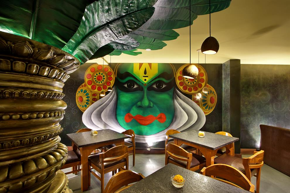 Wall mural is a major highlight in south indian restaurant for Mural restaurant