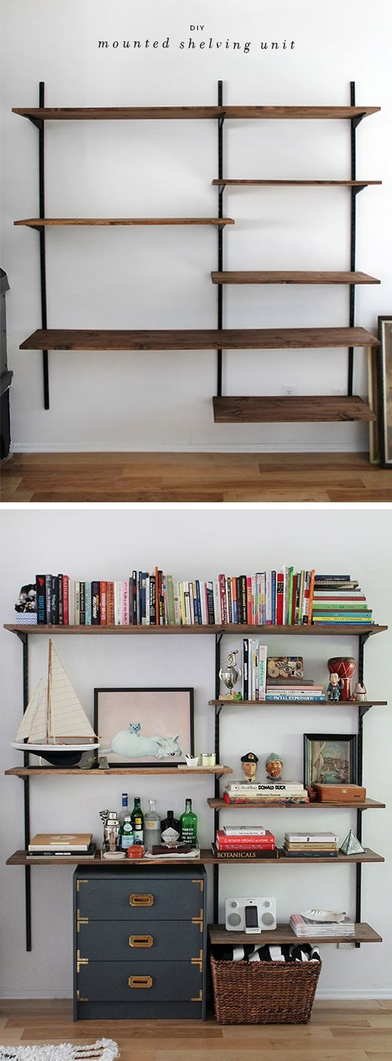 25 smart adjustable shelving ideas the architects diary - Wall mounted shelving ideas ...