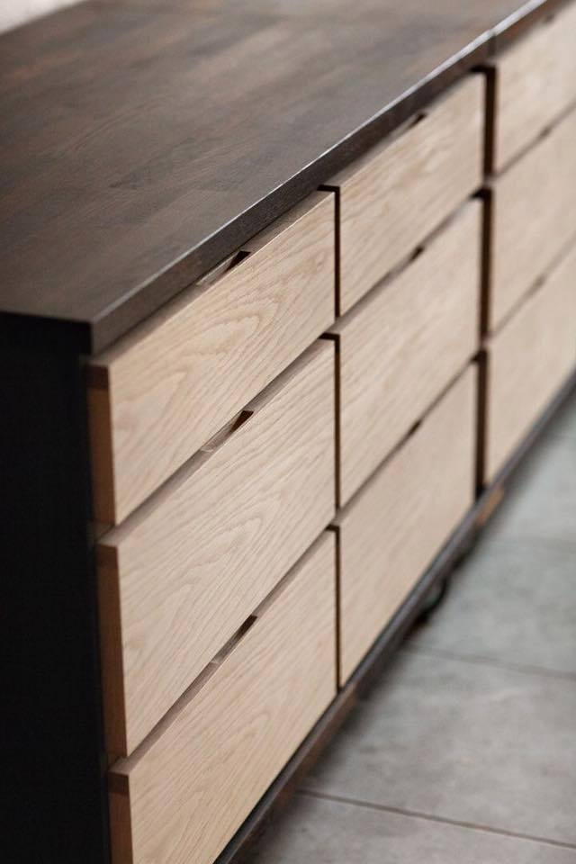 Concealed Handles Kitchen Cabinets