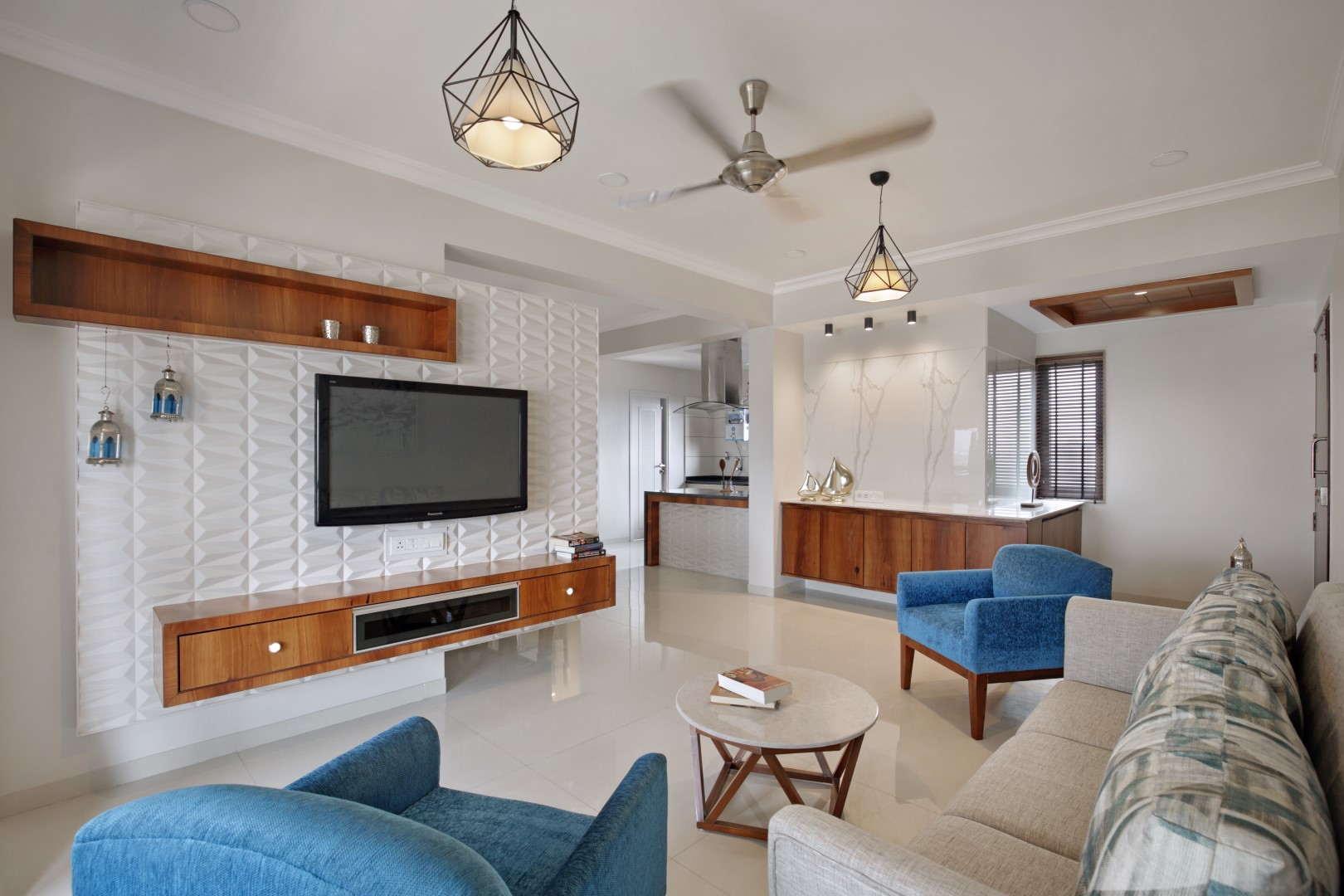 2 bhk interior design studio 7 designs the architects for Interior designs for flats