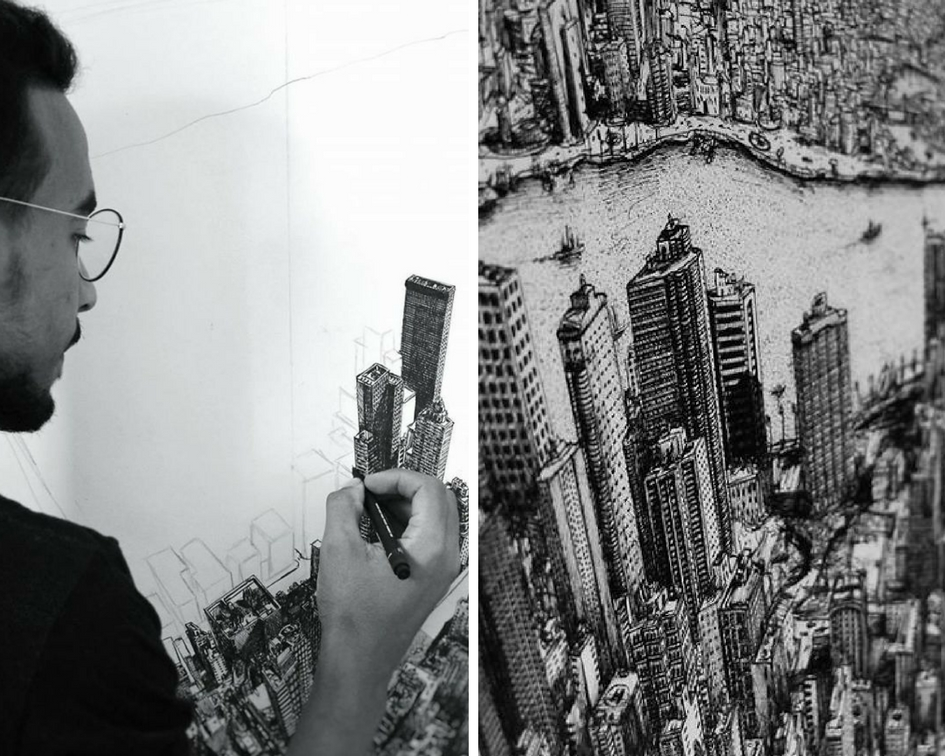 architecture student spends 10 months drawing new york On architecture new york