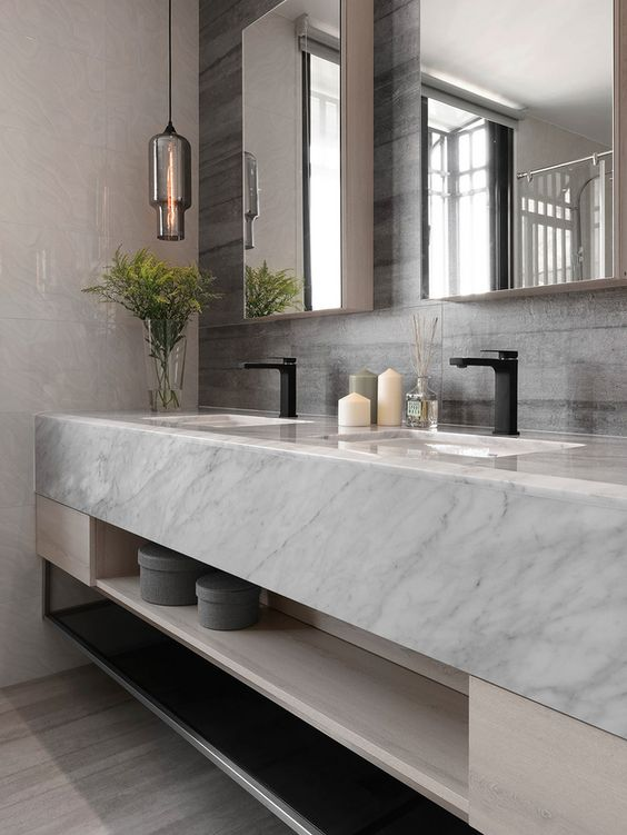 100+ Marble Bathroom Designs Ideas - The Architects Diary