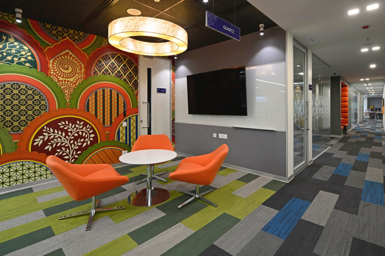 Nizam culture reflects in office decor of pegasystems - Interior design associate s degree ...