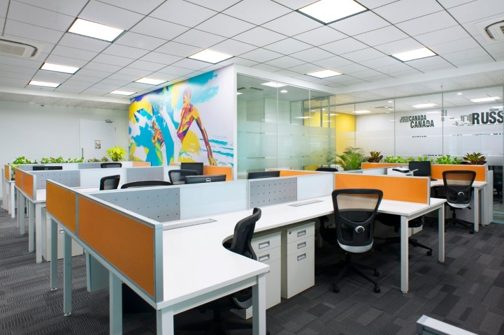 small modern office design of iifl offices  u2013 pune