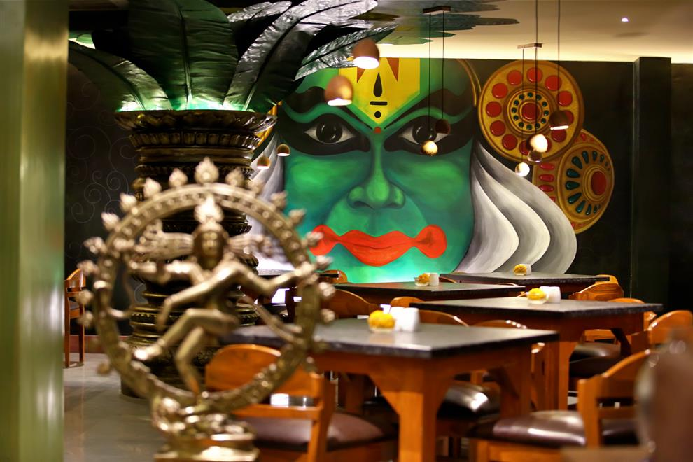 Wall Mural Is A Major Highlight In South Indian Restaurant