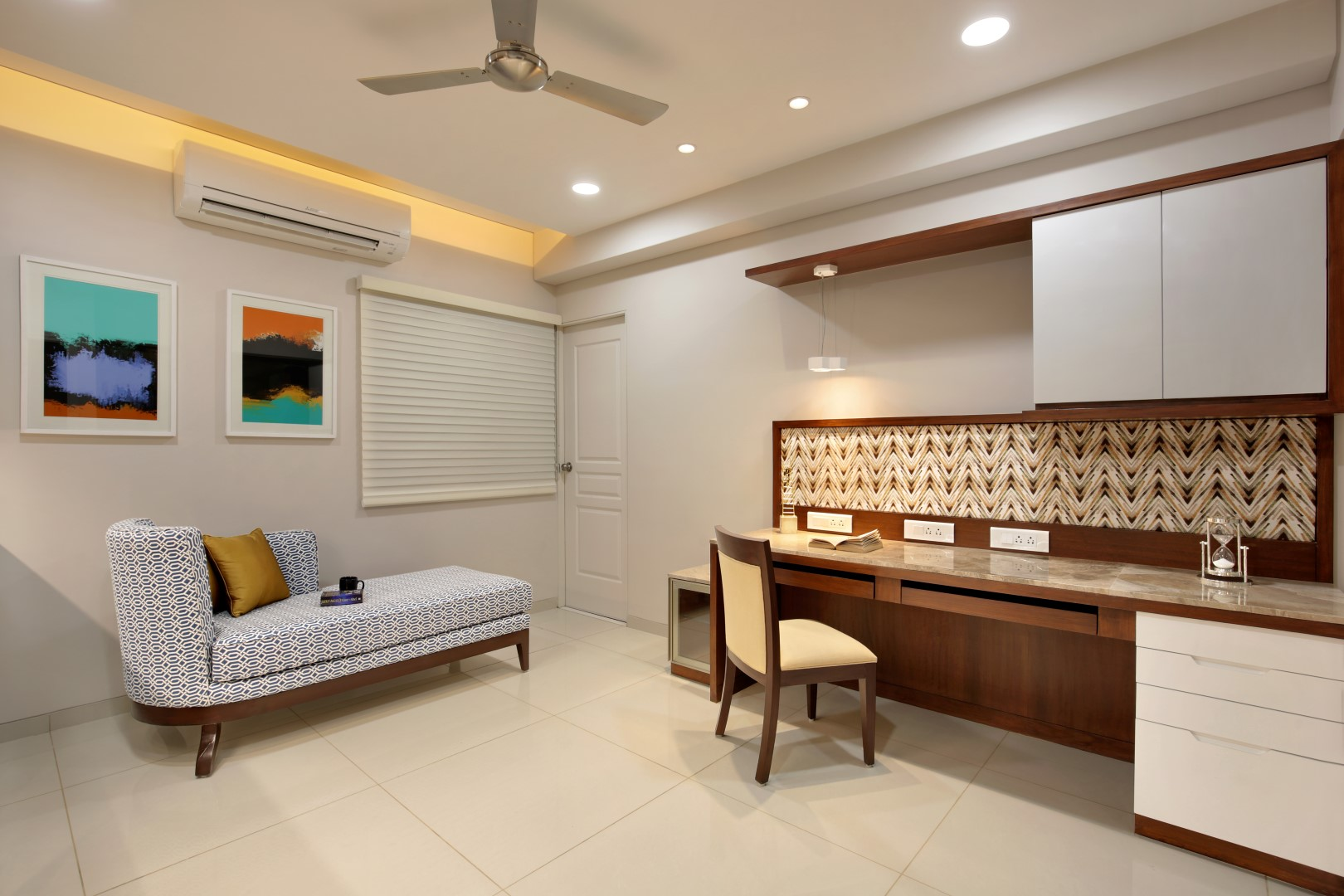 3 Bhk Flat Interiors The Oak Woods Vadodara Studio7 The Architects Diary