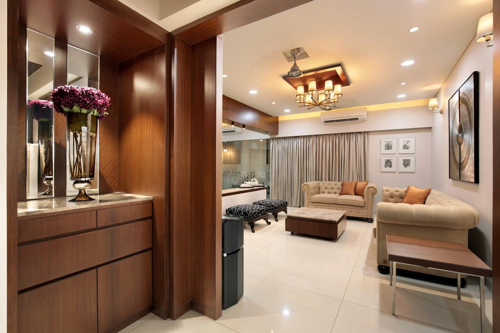 3 Bhk Flat Interiors The Oak Woods Vadodara Studio7 The Architects Diary