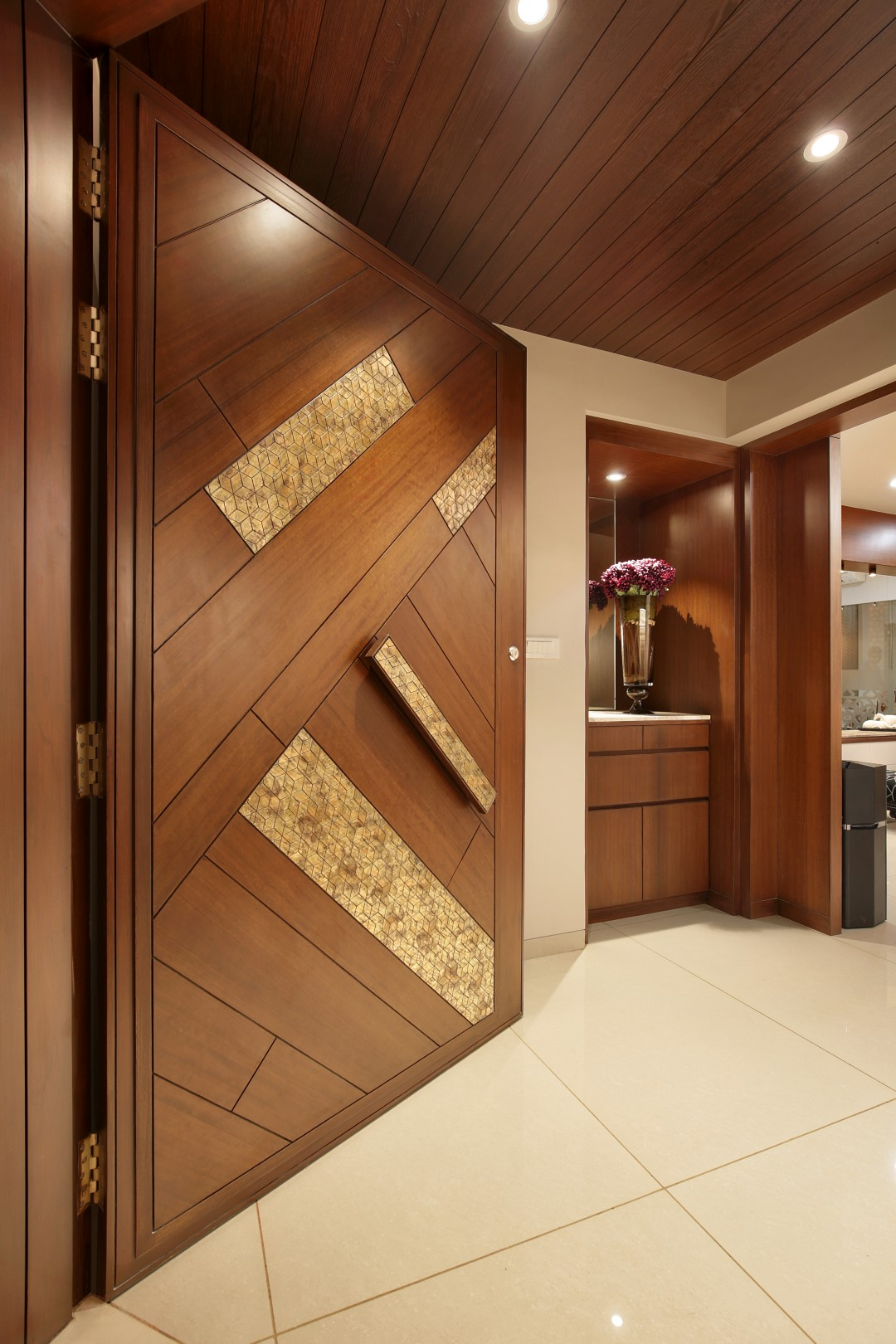 Doors Design: 3 BHK Flat Interiors - The Oak Woods