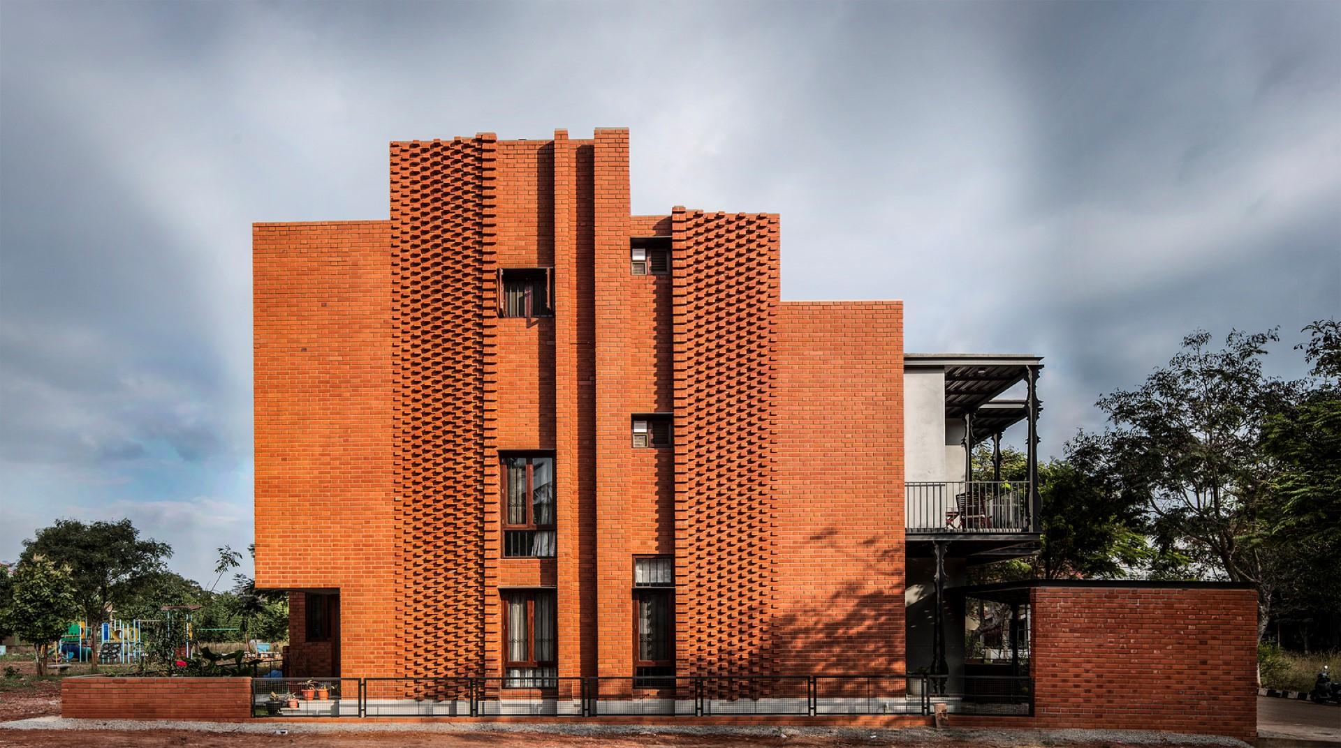Brick House Draws Inspiration From Traditional Kerala Architecture