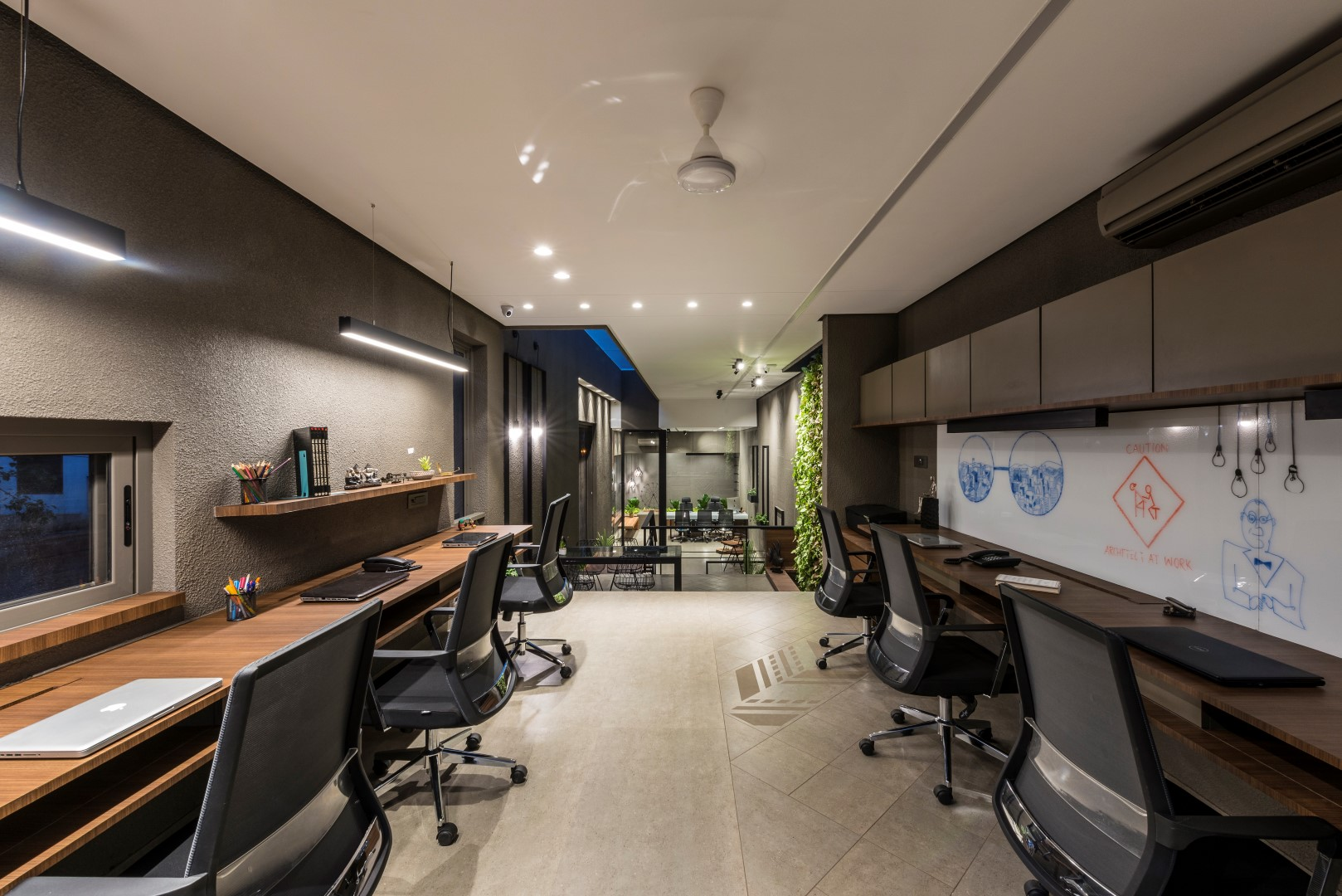 Both Materially And Chromatically, The Office Leans Towards The Earthy Side  Of The Scale. The Complete Building From Outside And Inside Is In Single  Tone Of ...