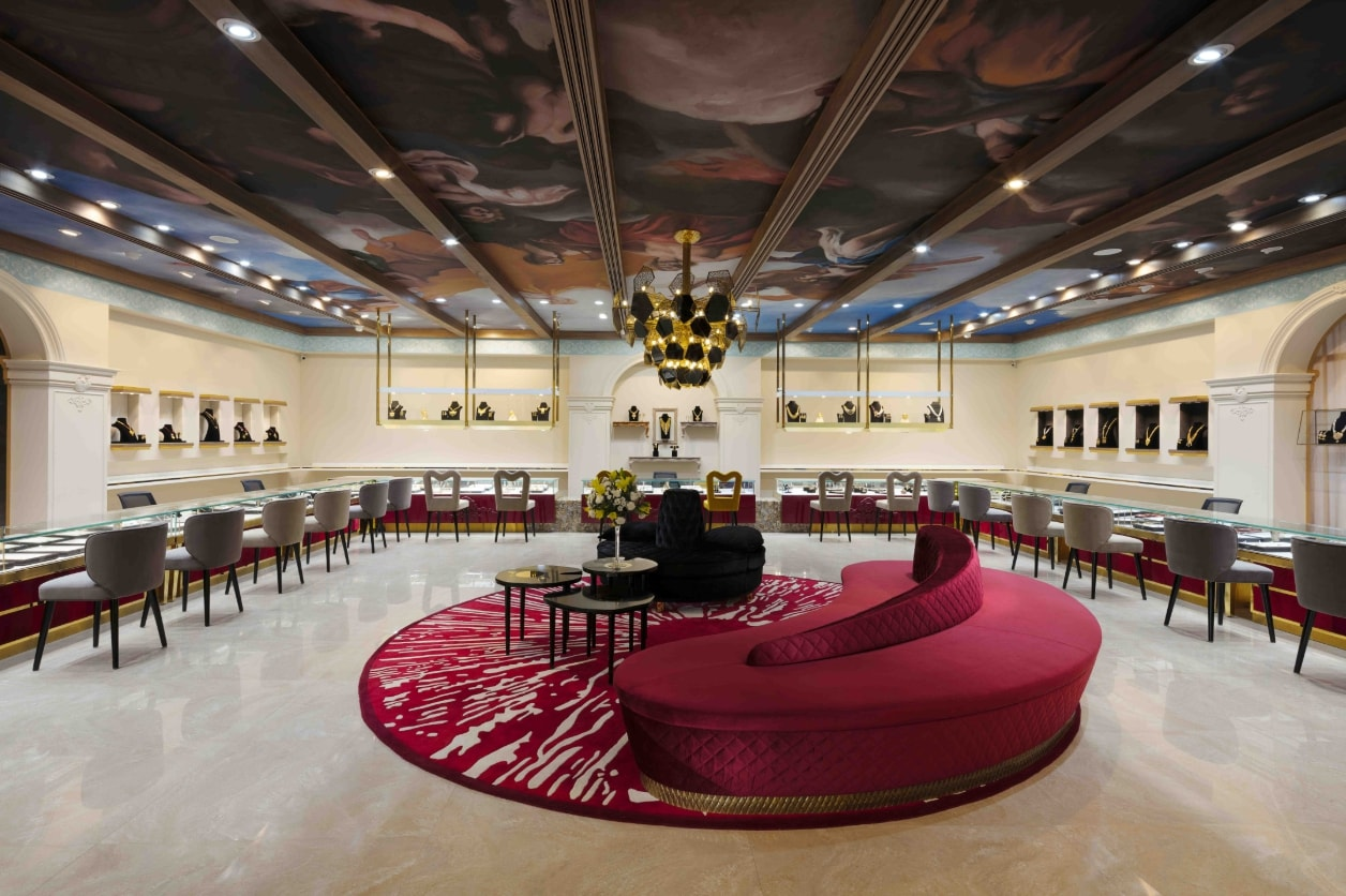 Jewellery Shop Interior Design Ideas S Shop Interior Design Built As An Introverted Vault, The Solid Sandstone Façade Makes A Bold  Statement With An Elegant Surface Detailing In Gold Steel. The Entrance Is  Marked By ...