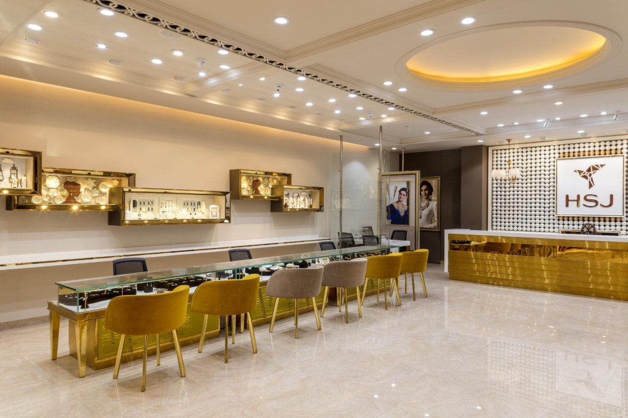 HSJ jewellery Showroom Interior Design by RMDK - The ...