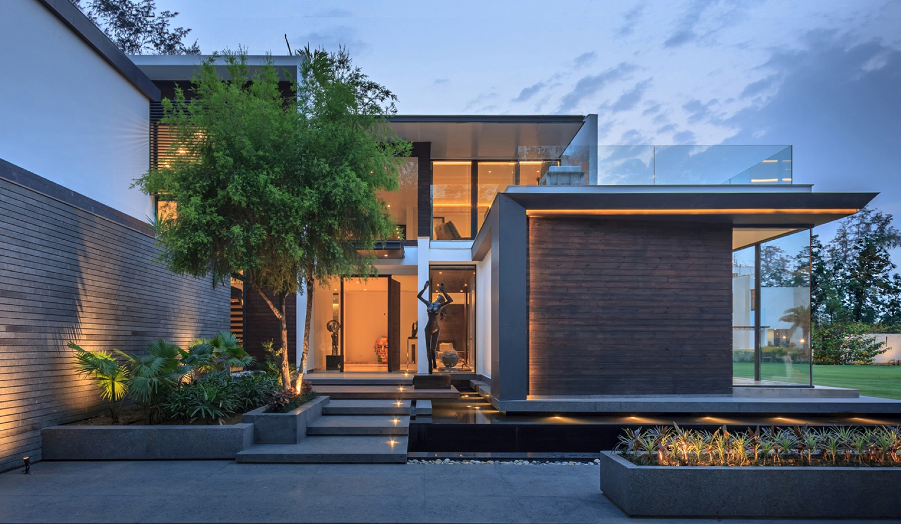 Palm Courtyard House Dada Partners The Architects Diary
