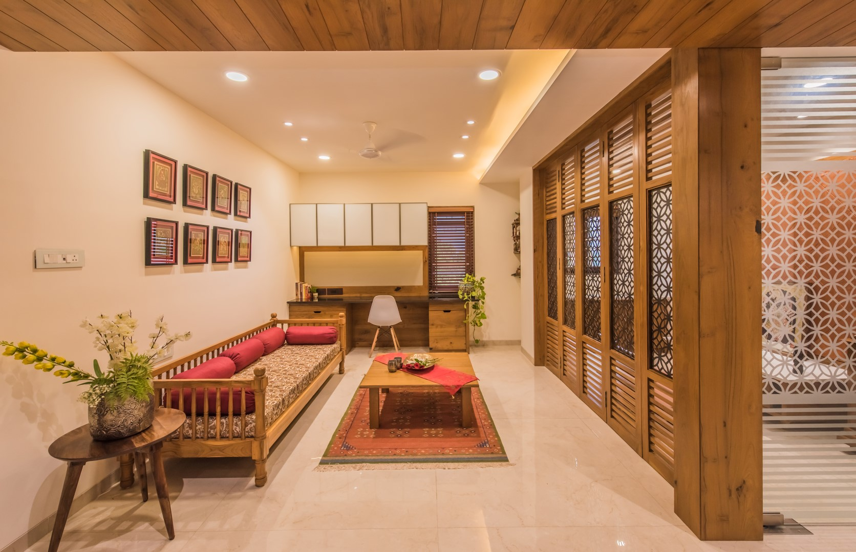 Contemporary Indian Style Apartment Interiors Ms Design Studio The Architects Diary