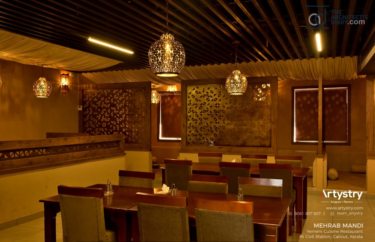 Arabic Style Restaurant Interiors Artystry Interior Design Studio The Architects Diary