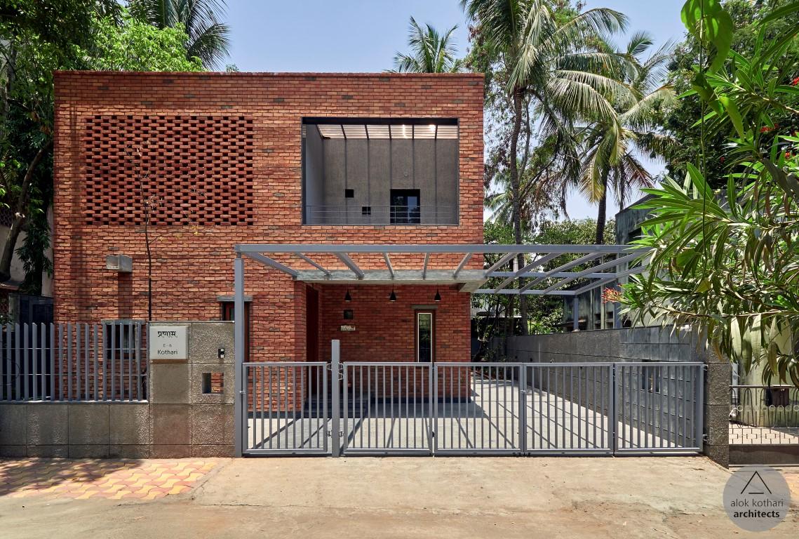 The Brick Abode House Design Alok Kothari Architects The Architects Diary,Modern Luxury Simple Living Room Lighting Design