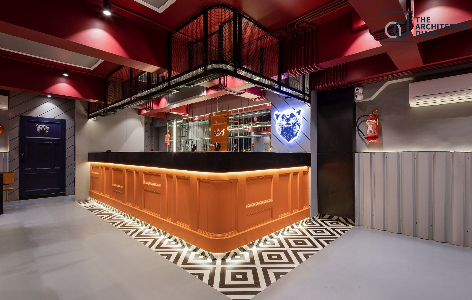 Bar Design With Bold Color Combination Esi Design Studio The Architects Diary