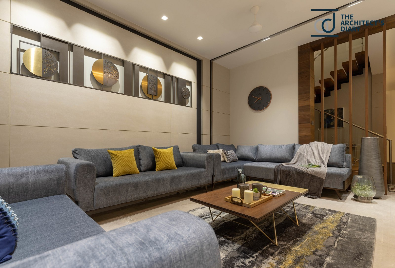 House Interior With Lavish Mix Of Textures Crest Architects Interior The Architects Diary