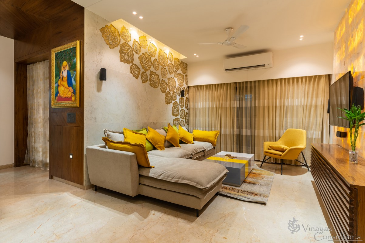 Bungalow Interior A Transformation From Dull To Bright Vinayak Consultant The Architects Diary