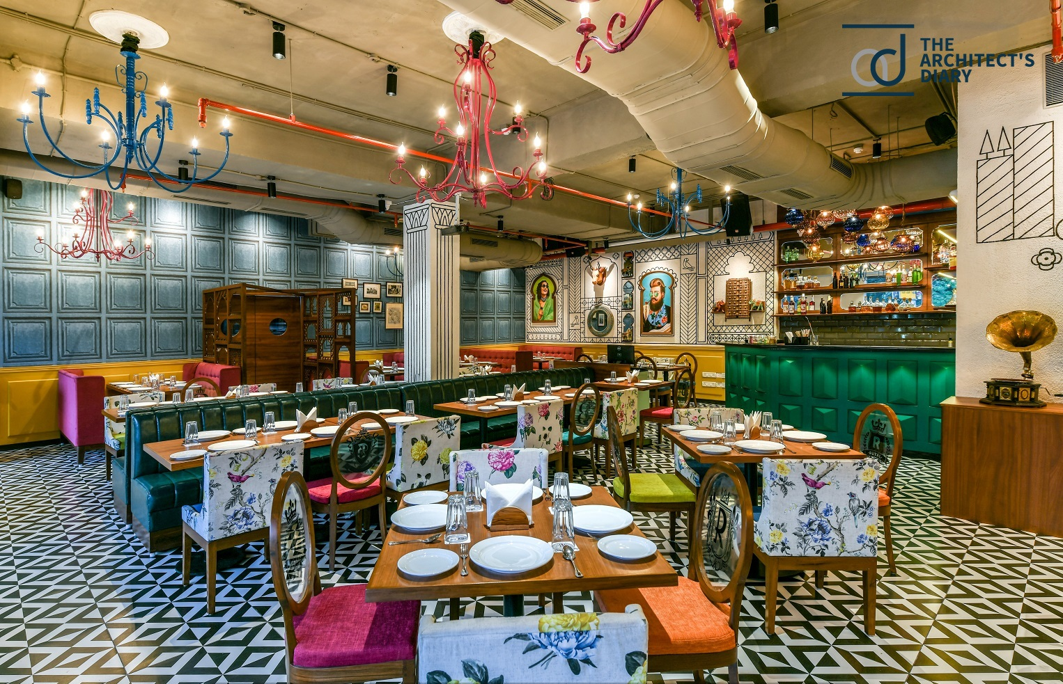 A Restaurant Interior With Essence Of Rajasthan Minnie Bhatt Designs The Architects Diary