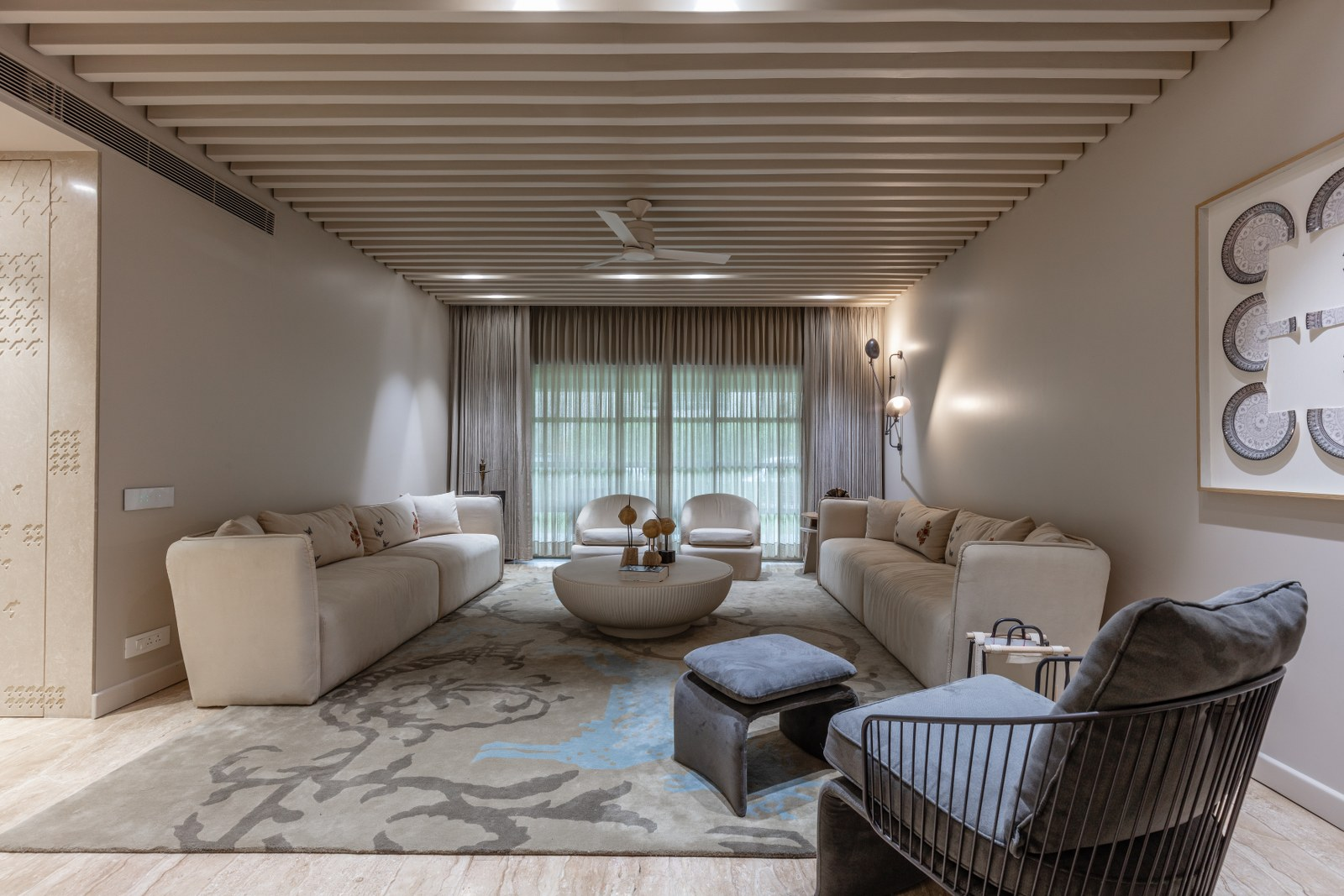 Neutral Color Residence Interior With A Lavish Feel Designer S Circle The Architects Diary