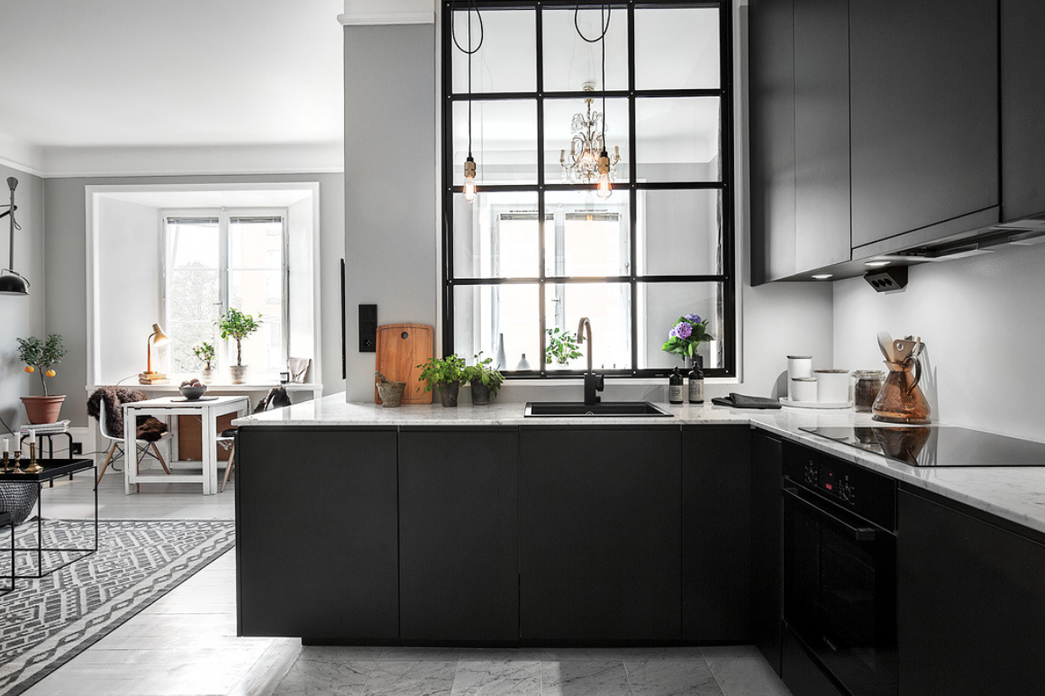 How Can Black Kitchen Cabinets Make A Small Kitchen Look Good The Architects Diary